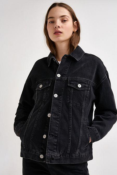 Damenjacken m ntel winterjacken urban outfitters - Schwarze jeansjacke damen ...