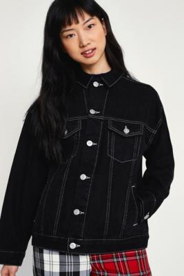 BDG - BDG Black Contrast Stitched Denim Jacket, Black