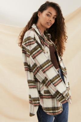 UO - Veste chemise à carreaux brossée - Urban Outfitters - Modalova