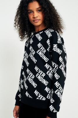 Urban Outfitters - Urban Outfitters Never Ending Sweatshirt, Black