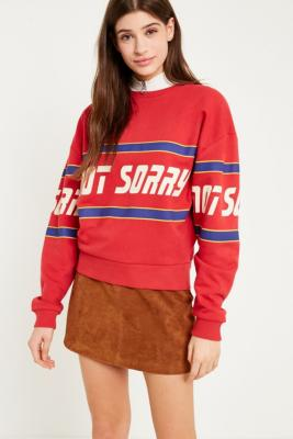 Urban Outfitters - UO Not Sorry Sweatshirt, Red