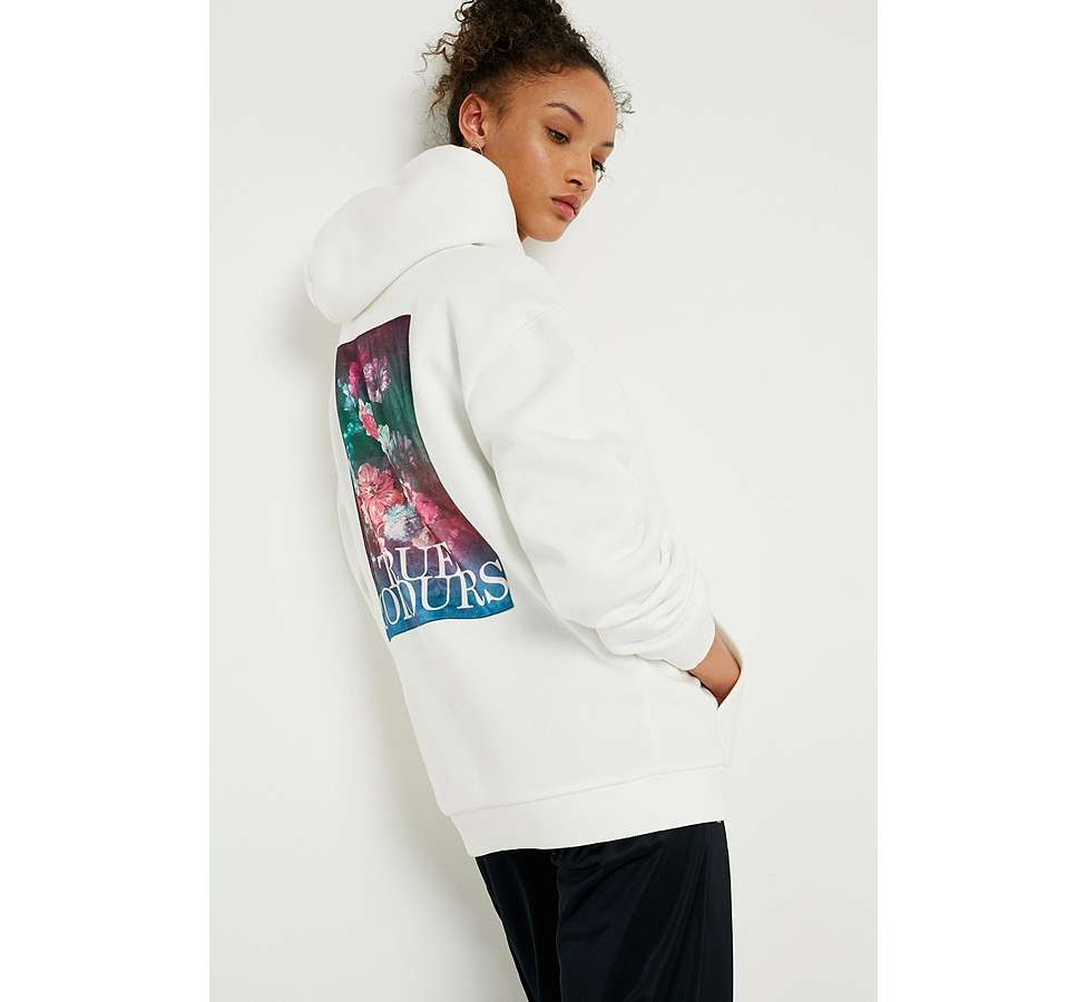 Slide View: 1: UO True Colours Floral Hoodie