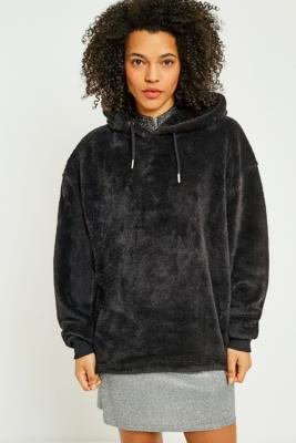 Cooperative by Urban Outfitters - Urban Outfitters Soft Teddy Hoodie, Black