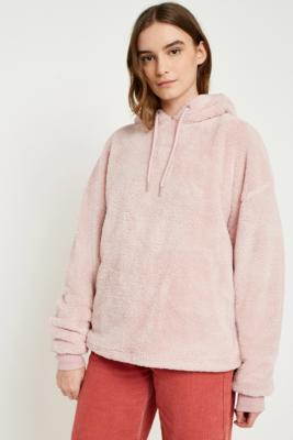 Cooperative by Urban Outfitters - Urban Outfitters Teddy Hoodie, Pink