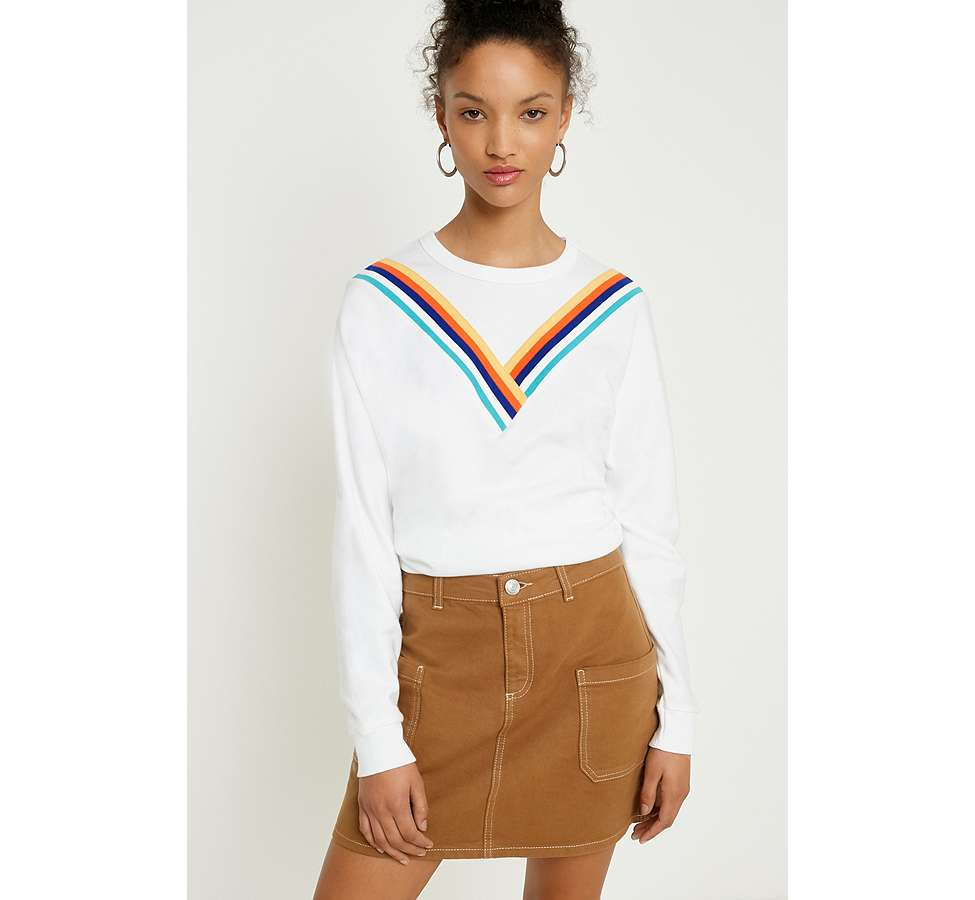 "Slide View: 1: Urban Outfitters – Sweatshirt ""Monica"" mit Chevrondesign"