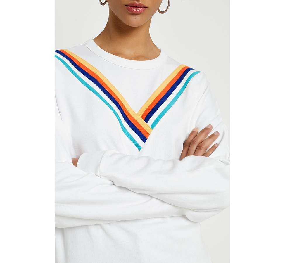 "Slide View: 2: Urban Outfitters – Sweatshirt ""Monica"" mit Chevrondesign"