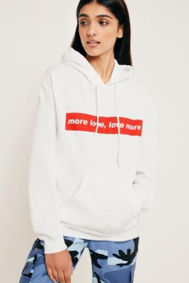 Cooperative by Urban Outfitters - Urban Outfitters More Love, Love More Hoodie, White