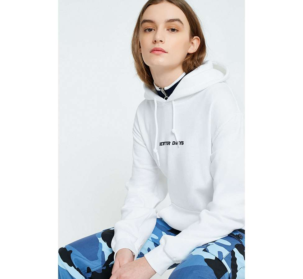 "Slide View: 3: Urban Outfitters – Hoodie ""Better Days Are Coming Floral"""