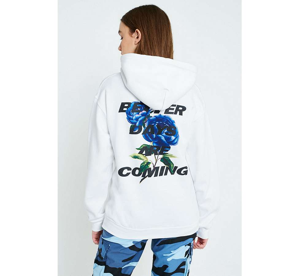 "Slide View: 4: Urban Outfitters – Hoodie ""Better Days Are Coming Floral"""