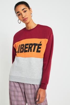 Cooperative by Urban Outfitters - Urban Outfitters Liberte Panel Sweatshirt, Maroon