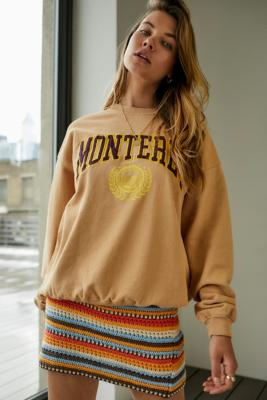 UO Monterey Applique Sweatshirt - White XS at Urban Outfitters