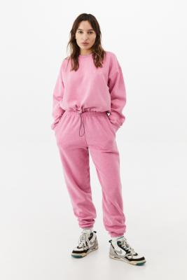 iets frans. Bubble Hem Crew Neck Candy Pink Sweatshirt - Purple S at Urban Outfitters