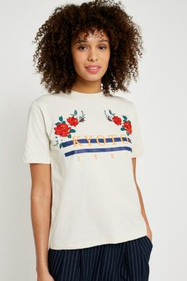 Cooperative by Urban Outfitters - Urban Outfitters Kyoto 1990 T-Shirt, Cream