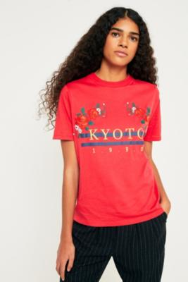 Cooperative by Urban Outfitters - Urban Outfitters Kyoto 1990 T-Shirt, Red