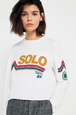 Cooperative by Urban Outfitters - Urban Outfitters Solo Tokyo Long Sleeve T-Shirt, White