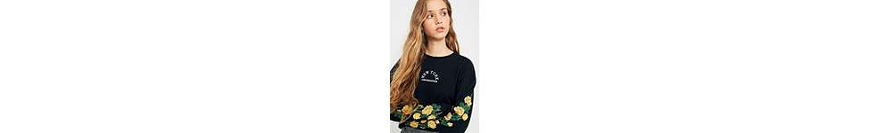 Thumbnail View 3: Urban Outfitters - T-shirt New York manches longues à motifs roses
