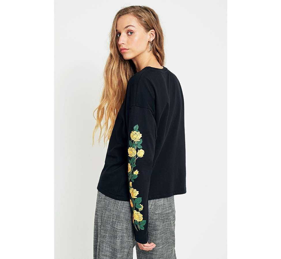 Slide View: 4: Urban Outfitters - T-shirt New York manches longues à motifs roses