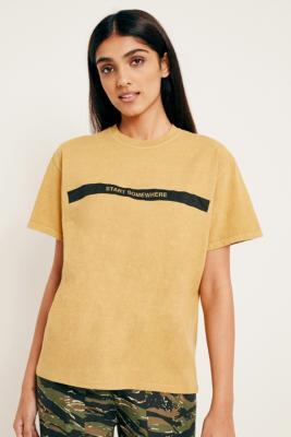 Urban Outfitters - UO Start Somewhere T-Shirt, Dark Yellow