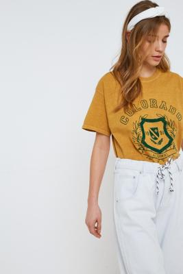 Urban Outfitters - Colorado Overdyed T-Shirt, Dark Yellow