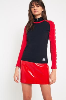 Cooperative by Urban Outfitters - Urban Outfitters Red Vinyl Pelmet Skirt, Red