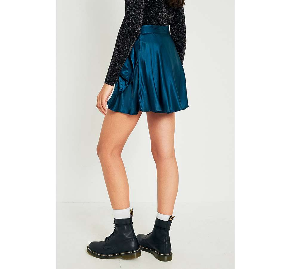 Slide View: 5: UO Maise Shiny Wrap Mini Skirt