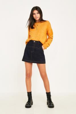 Bdg Western Denim Mini Skirt by Bdg