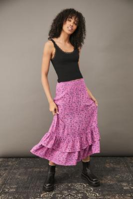UO - Jupe midi surteinte Hannah - Urban Outfitters - Modalova