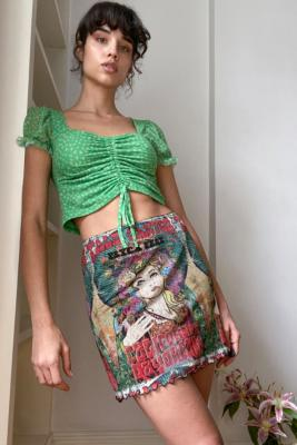 UO Festival Print '90s Mesh Mini Skirt - Assorted XS at Urban Outfitters