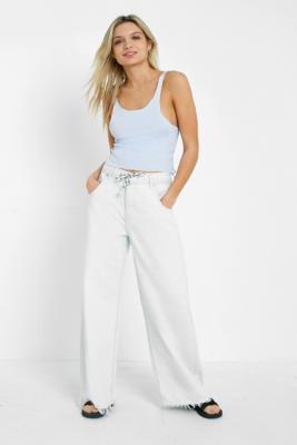 BDG - BDG Drawstring Puddle Jeans, Light blue