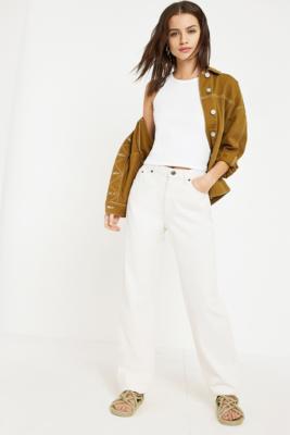 BDG - BDG Ecru Straight Leg Jeans, white