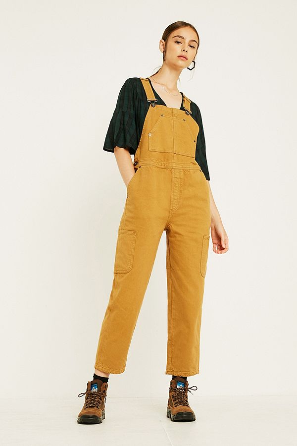 Slide View: 1: BDG Camel Workwear Dungarees