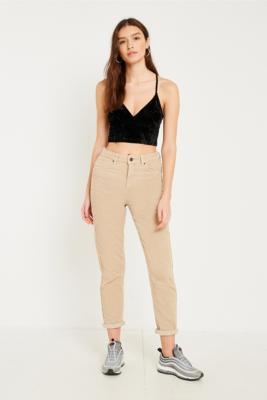 BDG - BDG Mom Stone Corduroy Jeans, Nude