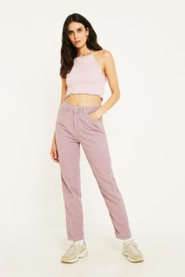 Bdg Mom Dusty Lilac Corduroy Jeans by Bdg