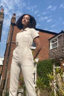 BDG Greta Boilersuit - Grey M at Urban Outfitters
