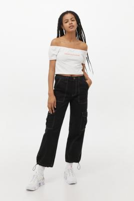 BDG Toggle Hem Skate Jeans - Black 26W 30L at Urban Outfitters