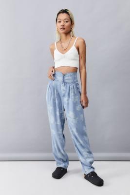 UO - Pantalon large à taille haute Bailey\u00a0 - Urban Outfitters - Modalova