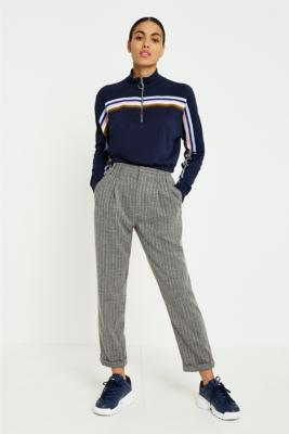 Light Before Dark - Light Before Dark Tonic Pinstripe Pleated Trousers, Grey