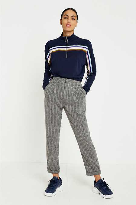 Light Before Dark Tonic Pinstripe Pleated Trousers