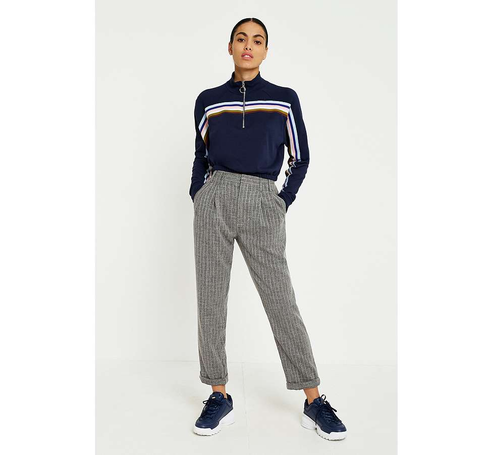 Slide View: 1: Light Before Dark Tonic Pinstripe Pleated Trousers