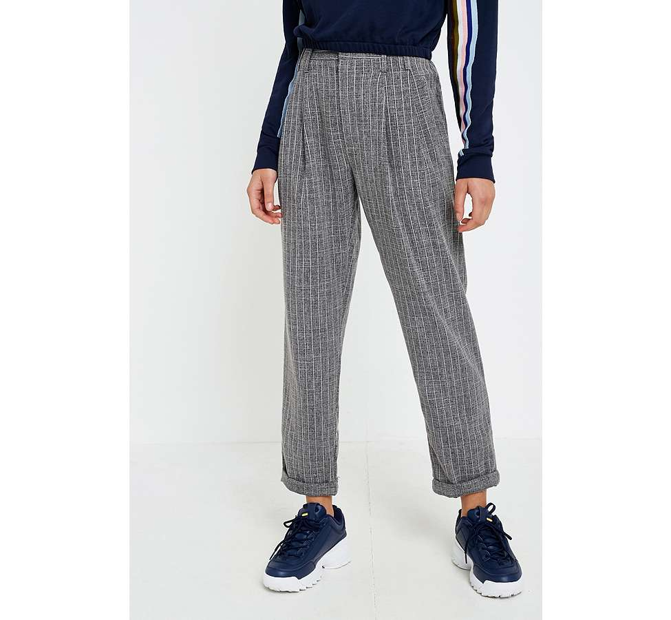 Slide View: 2: Light Before Dark Tonic Pinstripe Pleated Trousers