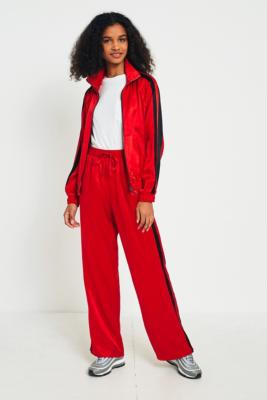 Light Before Dark - Light Before Dark Red Striped Track Trousers, red