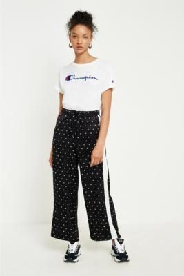 Light Before Dark - Light Before Dark Polka Dot Satin Culottes, Black