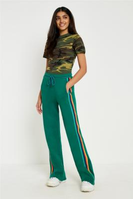 BDG - BDG Green Striped Puddle Joggers, Green