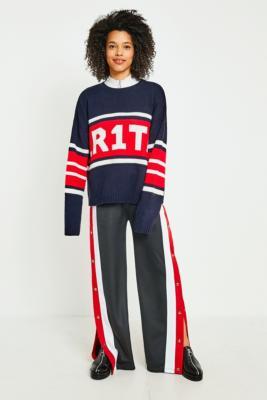 BDG - BDG Red Side Stripe Popper Pants, Red