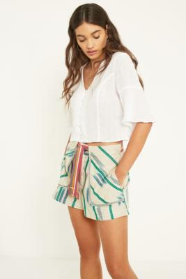 Urban Outfitters - UO Eva Striped Pocket Shorts, beige
