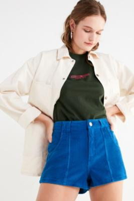 BDG - BDG Blue High-Waisted Corduroy Shorts, Navy