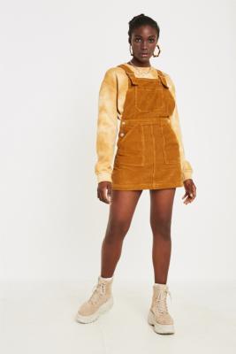Bdg Mustard Corduroy Pinny Dress by Bdg