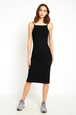 Urban Outfitters - UO Square Neck Midi Dress, Black