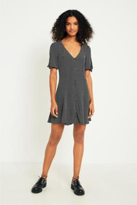 Pins and Needles - Pins  &  Needles Sally Sue Pin Dot Dress, Black  &  White