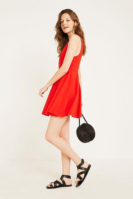 3a636f10c5e UO Heart Of The Ocean Red Sweetheart Mini Dress